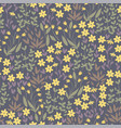 meadow yellow flowers seamless pattern vector image