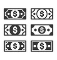 money icon set on white background vector image