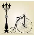 old bicycle vector image vector image