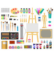 paint art tools artistic supplies painting and vector image vector image