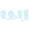 paper speech bubbles 2019 vector image
