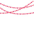 party background with heart shape confetti vector image vector image