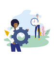 people business work vector image vector image