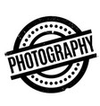 photography rubber stamp vector image vector image