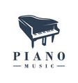 piano musical instrument logo vector image vector image
