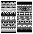 polynesian maori tattoo seamless patterns vector image