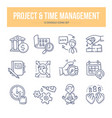 project time management doodle icons vector image