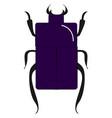 purple beetle bug on white background vector image vector image