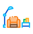 reading place with lamp icon outline vector image vector image