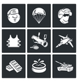 Russian Special Forces Icons vector image vector image