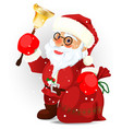 santa claus on the white eps 10 vector image vector image