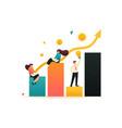 schedule revenue growth and achievement goal vector image