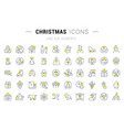 set line icons christmas vector image vector image