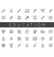 set of education icons can be used as logo vector image