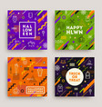 Set of halloween poster banner or greeting card