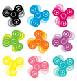 set of hand spinner toys vector image vector image