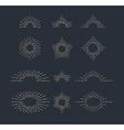 Set of Vintage Sunbursts in Different Shapes vector image vector image