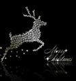 silver christmas deer vector image vector image