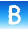 Sky Letter B vector image