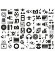 sound video icons on white vector image vector image