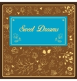 Sweet dreams inscription with floral background vector image