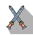 swords medieval element army in cross vector image vector image