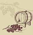 template background for menu with a barrel wine vector image vector image