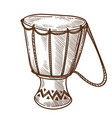 tom tom or drum isolated sketch musical vector image