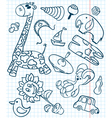 toys seamless vector image