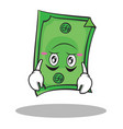 upside down face dollar character cartoon style vector image vector image