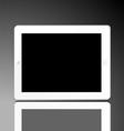 vertical computer tablet vector image vector image