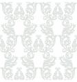 Vintage Baroque Rococo ornament pattern vector image vector image