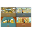 warehouse storage and delivery banners vector image