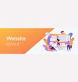 web development web banner concept vector image vector image
