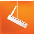 Wi fi router web icon vector image vector image