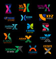x modern color trend corporate identity icons vector image vector image