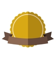 Yellow vintage badge vector image vector image