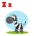 Zebra cartoon with letter vector image vector image
