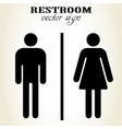 Male and Female Restroom sign - vector image