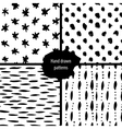 hand drawn seamless patterns collection vector image