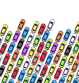 Traffic jam on the road with cars isolated on vector image