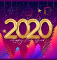 2020 happy new year background design with hanging vector image vector image
