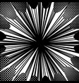abstract comic monochrome burst concept vector image vector image