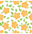 abstract flower fabric seamless pattern ill vector image vector image