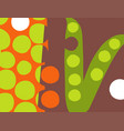 abstract pea pod vegetable design vector image vector image