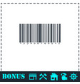 barcode icon flat vector image vector image