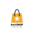 best shop logo icon design best stores logo design vector image vector image
