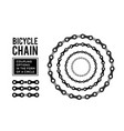 bicycle chain in the form of a circle 3d design vector image