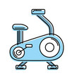bike machine to do exercise and healthy lifestyle vector image vector image