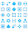 blockchain colorful icons bright block vector image vector image